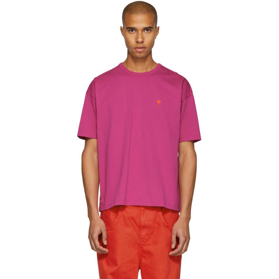 SSENSE Exclusive Purple Boxy Ami de Coeur T-Shirt Ami Wear Resistance mqk6BfYAj2