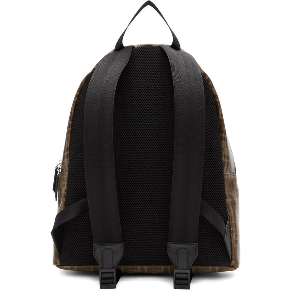 22a060e98470 Fendi - Brown Logo Backpack for Men - Lyst. View fullscreen