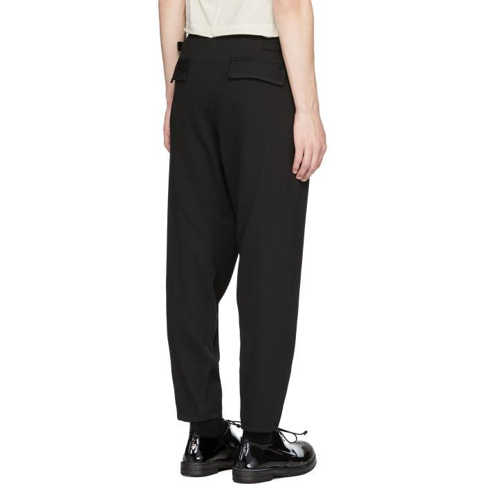 Damir Doma Black Wool Paal Trousers for Men