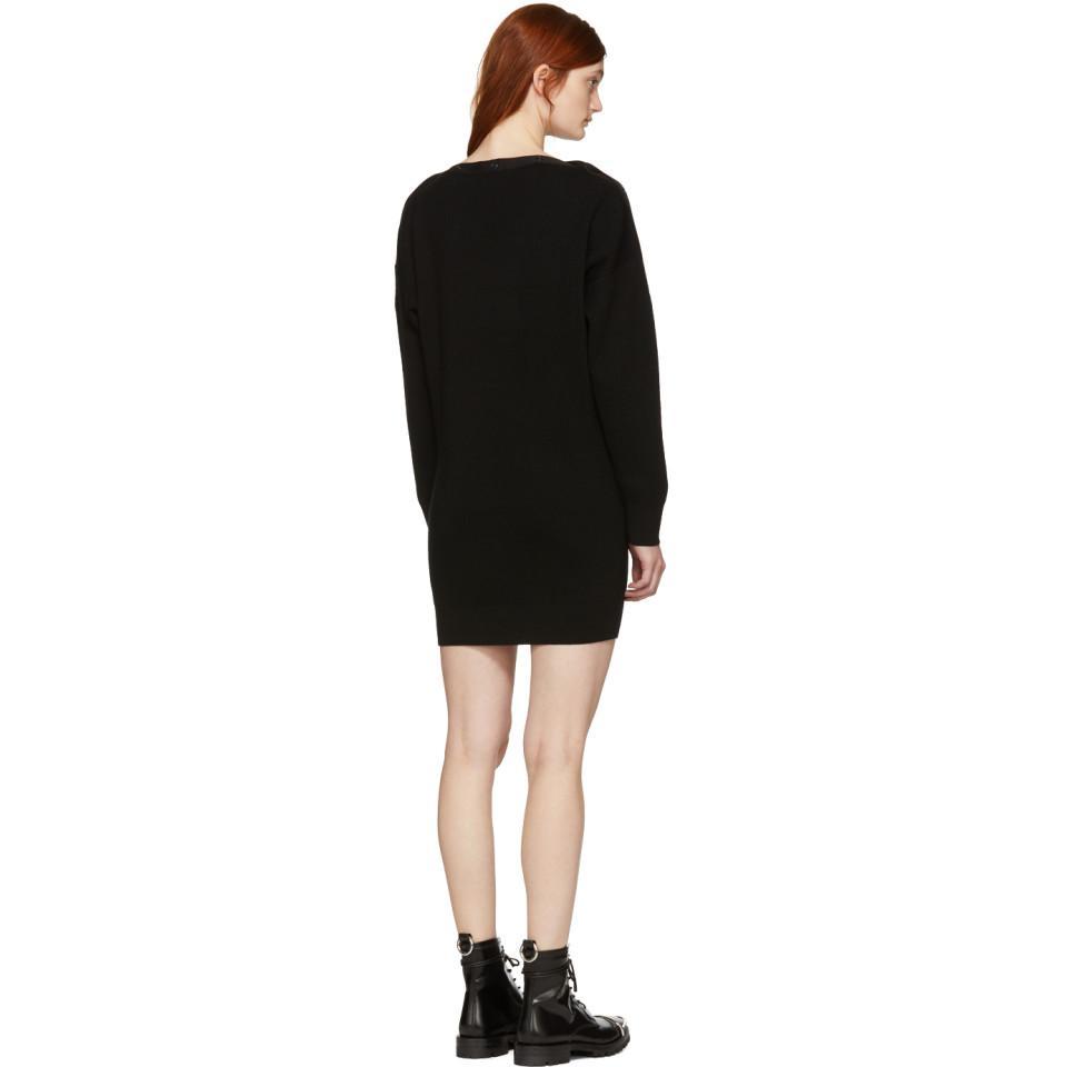 Black Snap Detail Off-the-Shoulder Dress Alexander Wang Xh6AxCAKrK