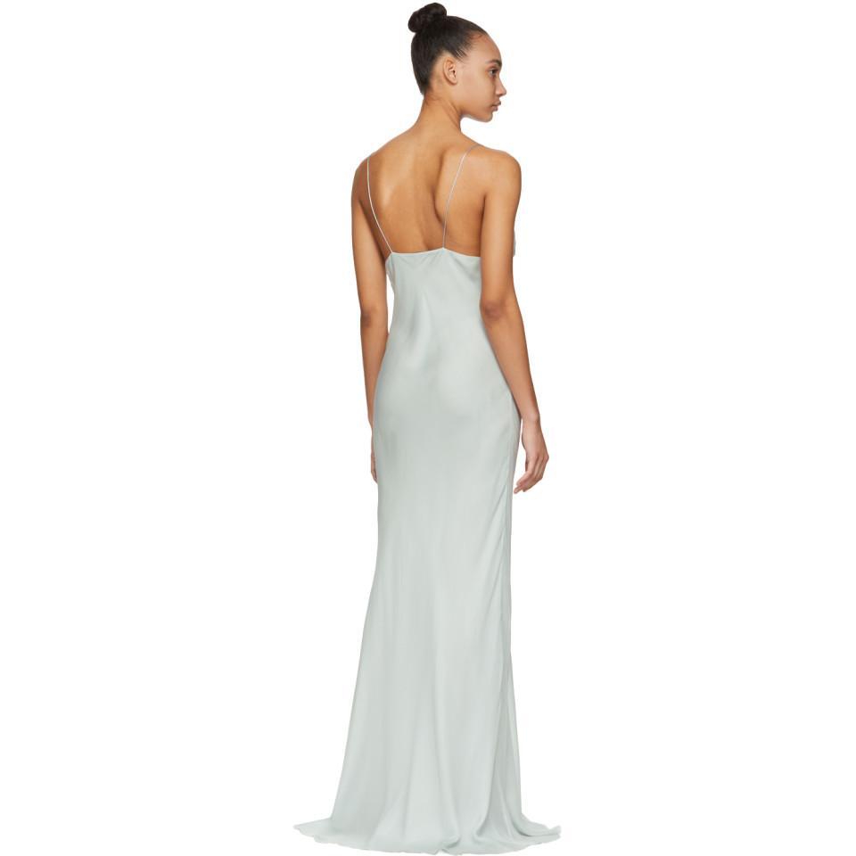 b1e40b9fdfac4e Haider Ackermann Blue Silk Toile Slip Dress - Lyst