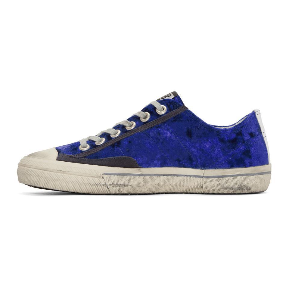 Golden Goose Blue & White Velvet Superstar Sneakers s9WYnBE