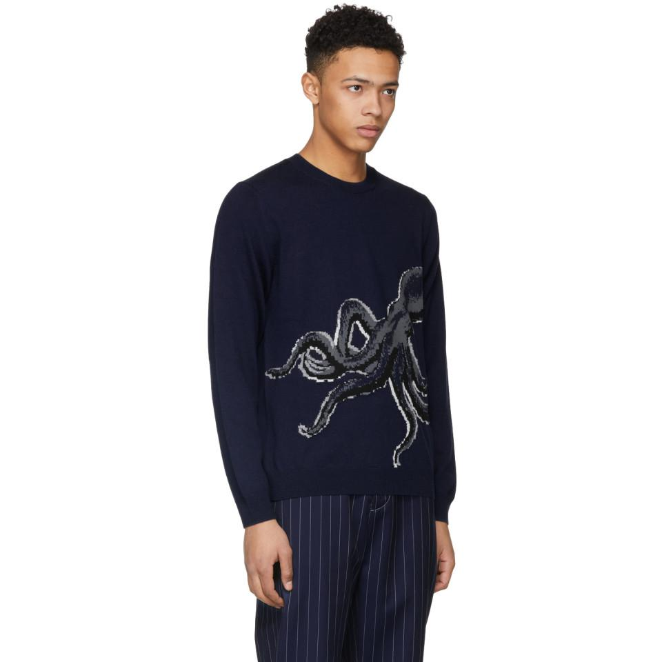 Brand New Unisex Cheap Online Discount Best Navy Octopus Knit Sweater Paul Smith rsFPXqutF