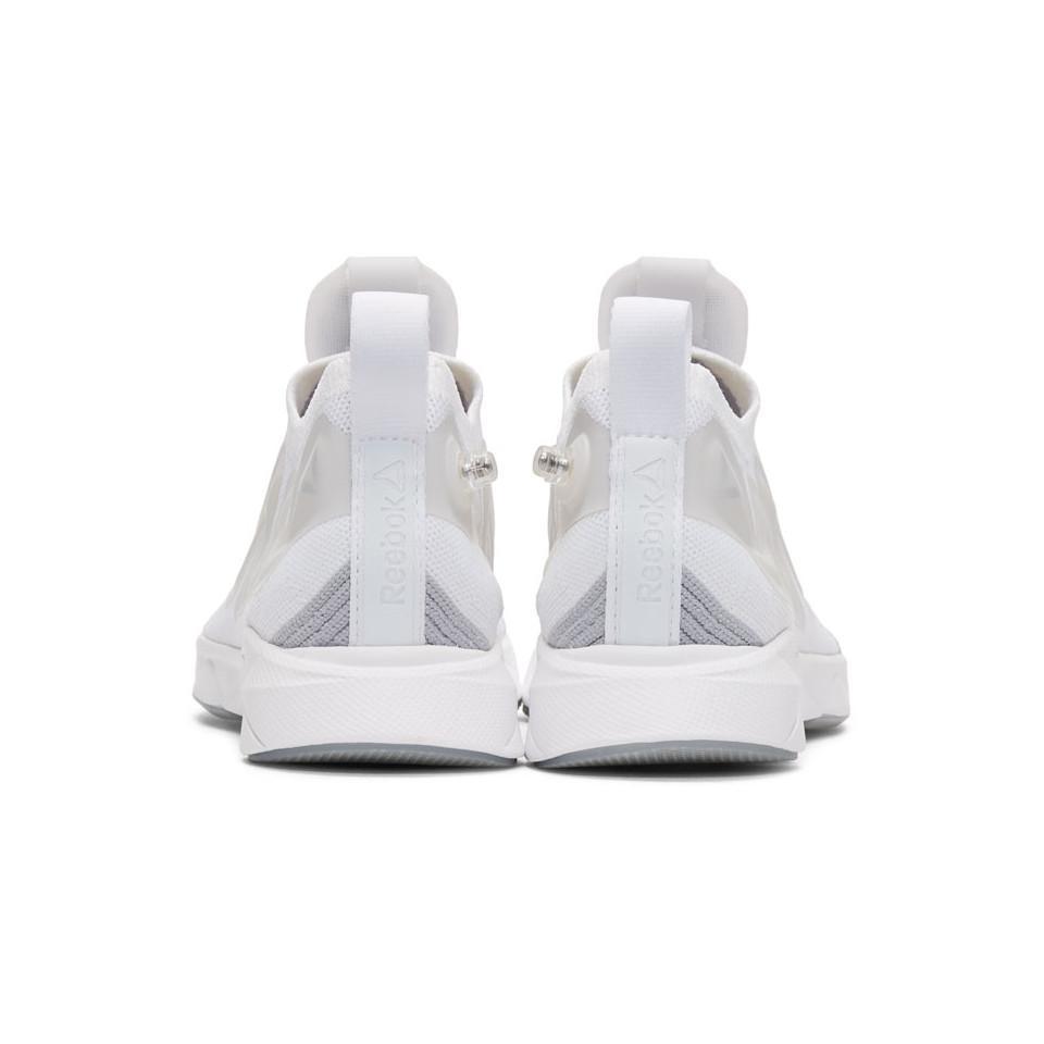 Reebok Rubber White Pump Supreme Ultraknit Sneakers