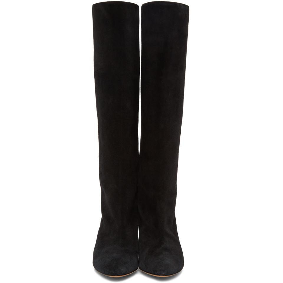 Isabel Marant Suede Black Latsen Boots