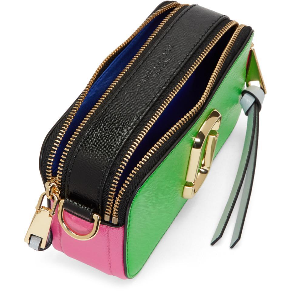 Green And Pink Snapshot Bag