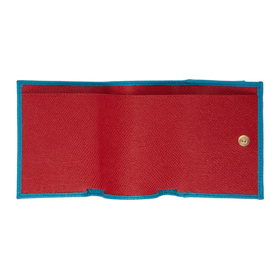Blue Trifold Amore and Heart Wallet Dolce & Gabbana U3JJoeN7g