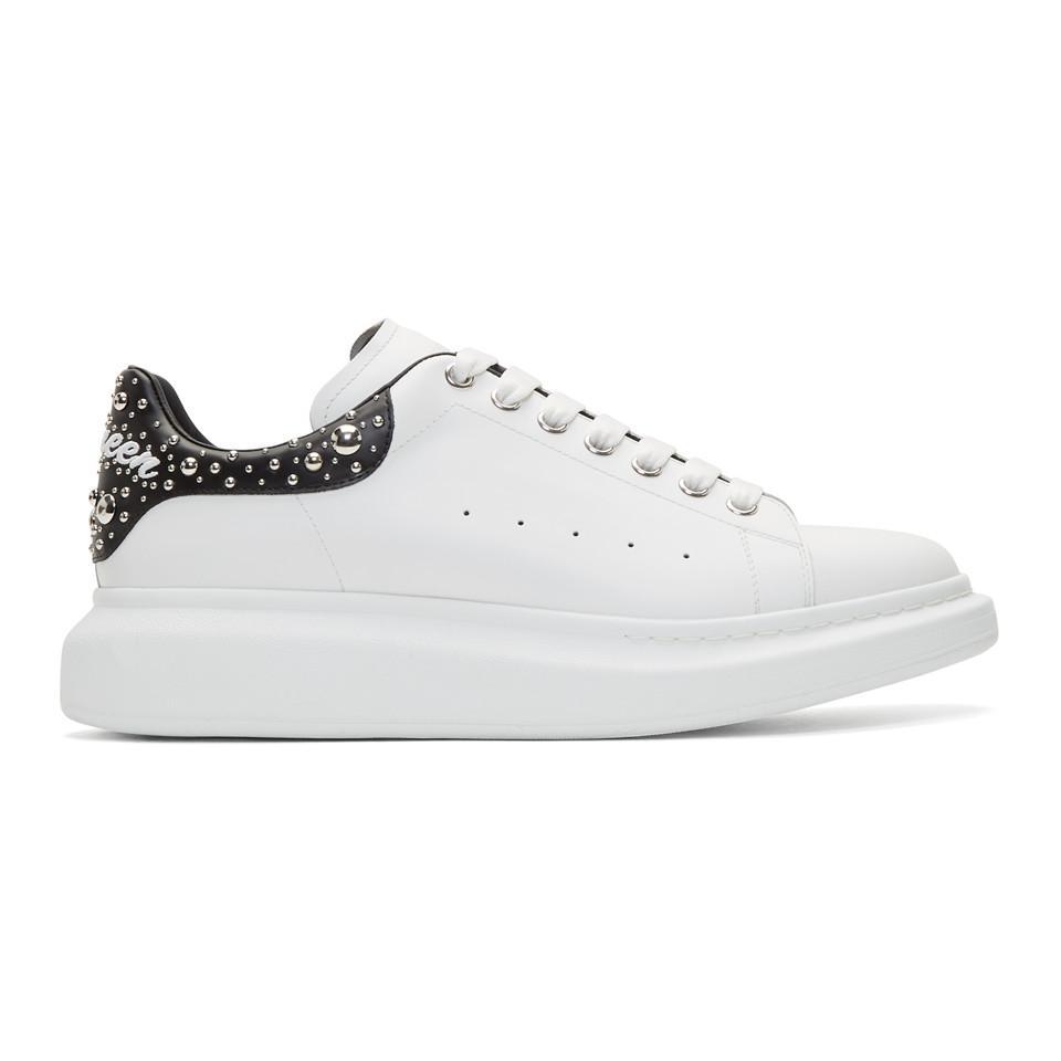 White Studded Logo Oversized Sneakers