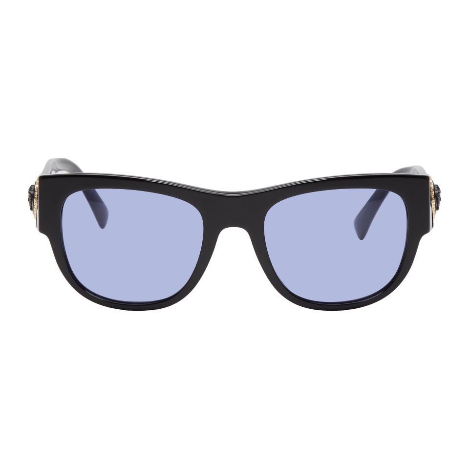 4c283afae34a7 Versace Black Medusa Ares Sunglasses in Black for Men - Lyst