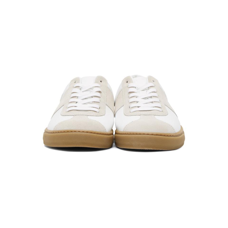 Paul Smith - White Baskets blanches Levon for Men - Lyst. Afficher en plein  écran 3b674e827079