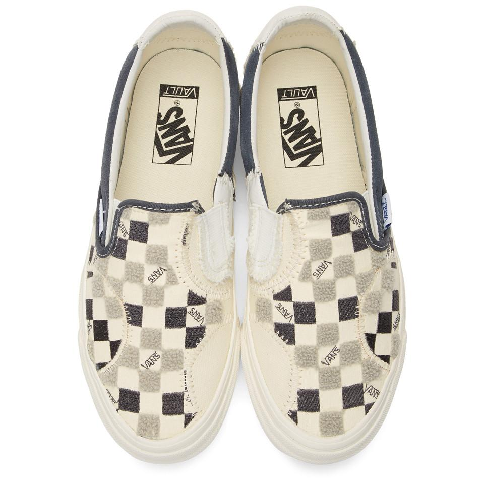Off-white And Black Bricolage Classic Slip-on Sneakers