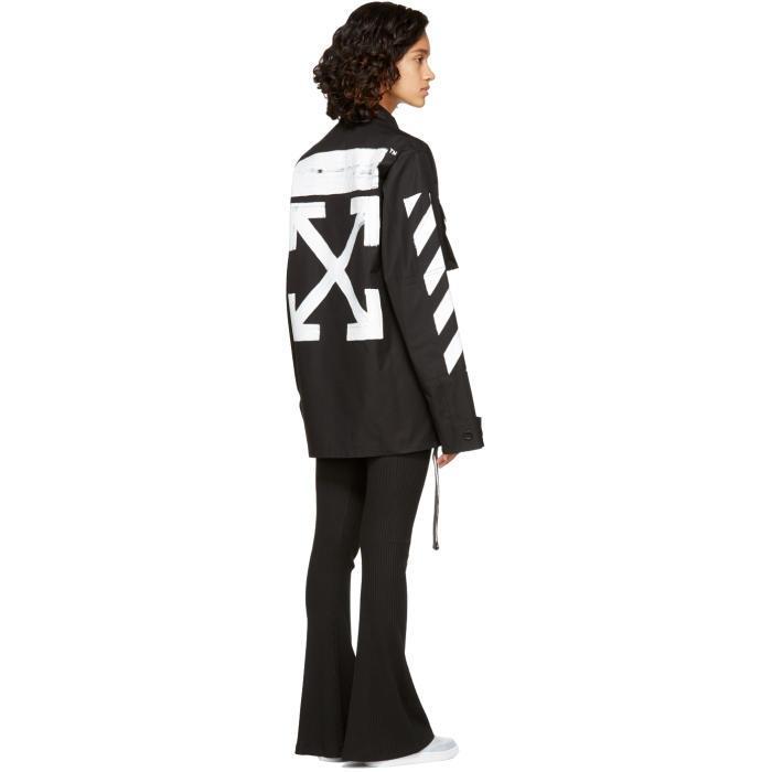 75ee31635 Off-White c/o Virgil Abloh Black Brushed Diagonal Field Jacket