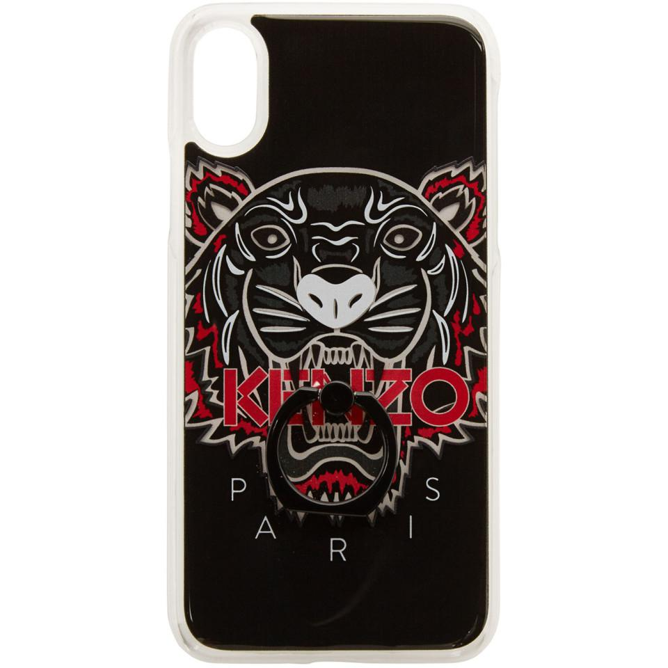 6f6a74a0 KENZO Black Limited Edition Tiger Ring Iphone X Case