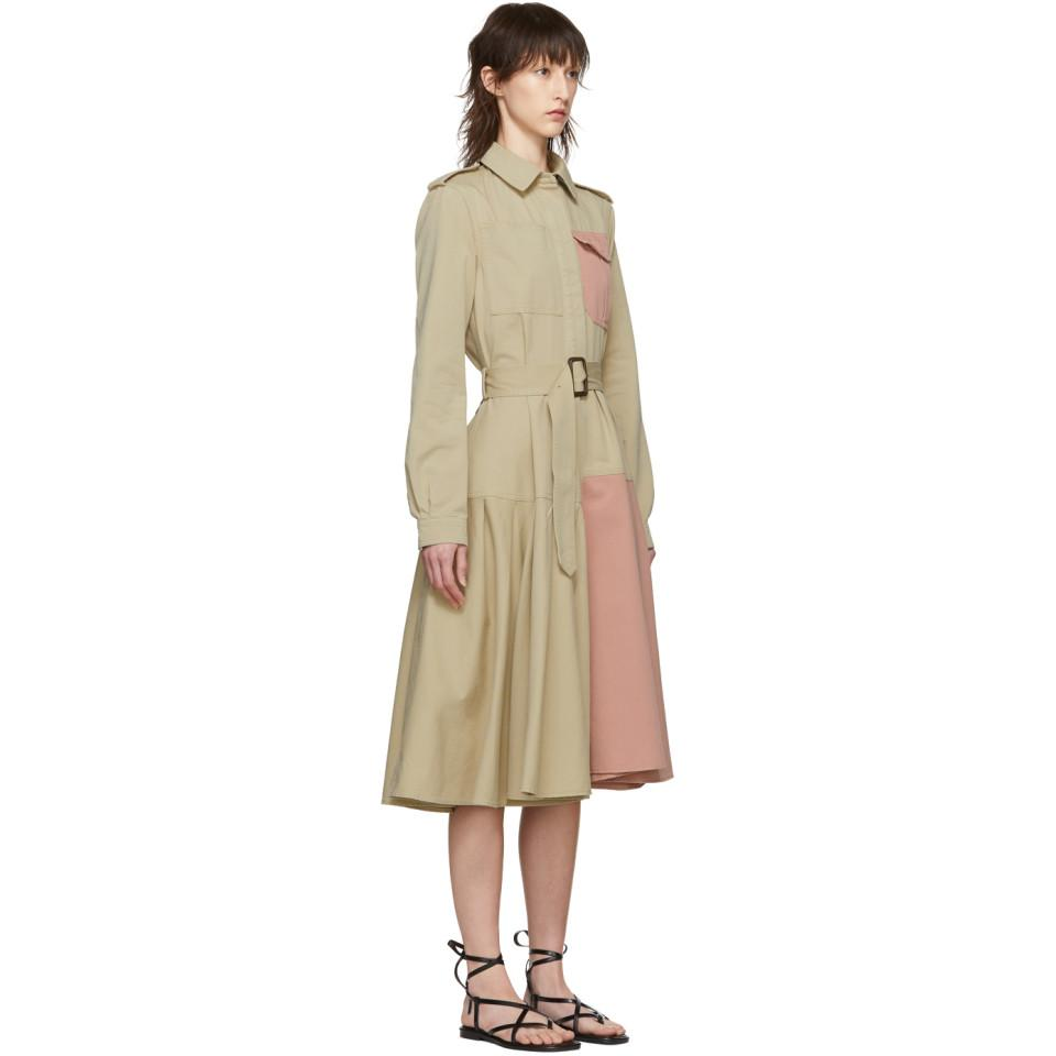 d92b58ff159 JW Anderson Beige Belted Shirt Dress in Natural - Lyst