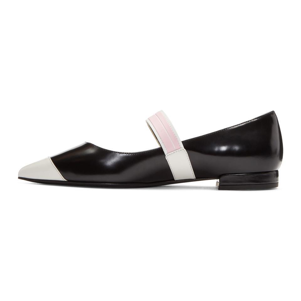 Black And White Ballerina Flats