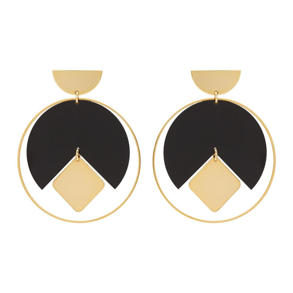 Gold and Black Seriously Earrings Isabel Marant hFGBQSj