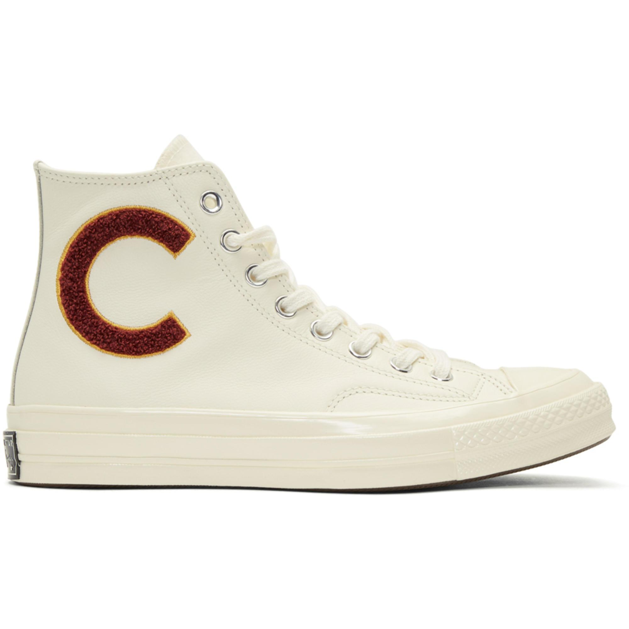 3b9b008e9e4 Lyst - Converse White Chuck Taylor All Star 70 Wordmark Wool High ...