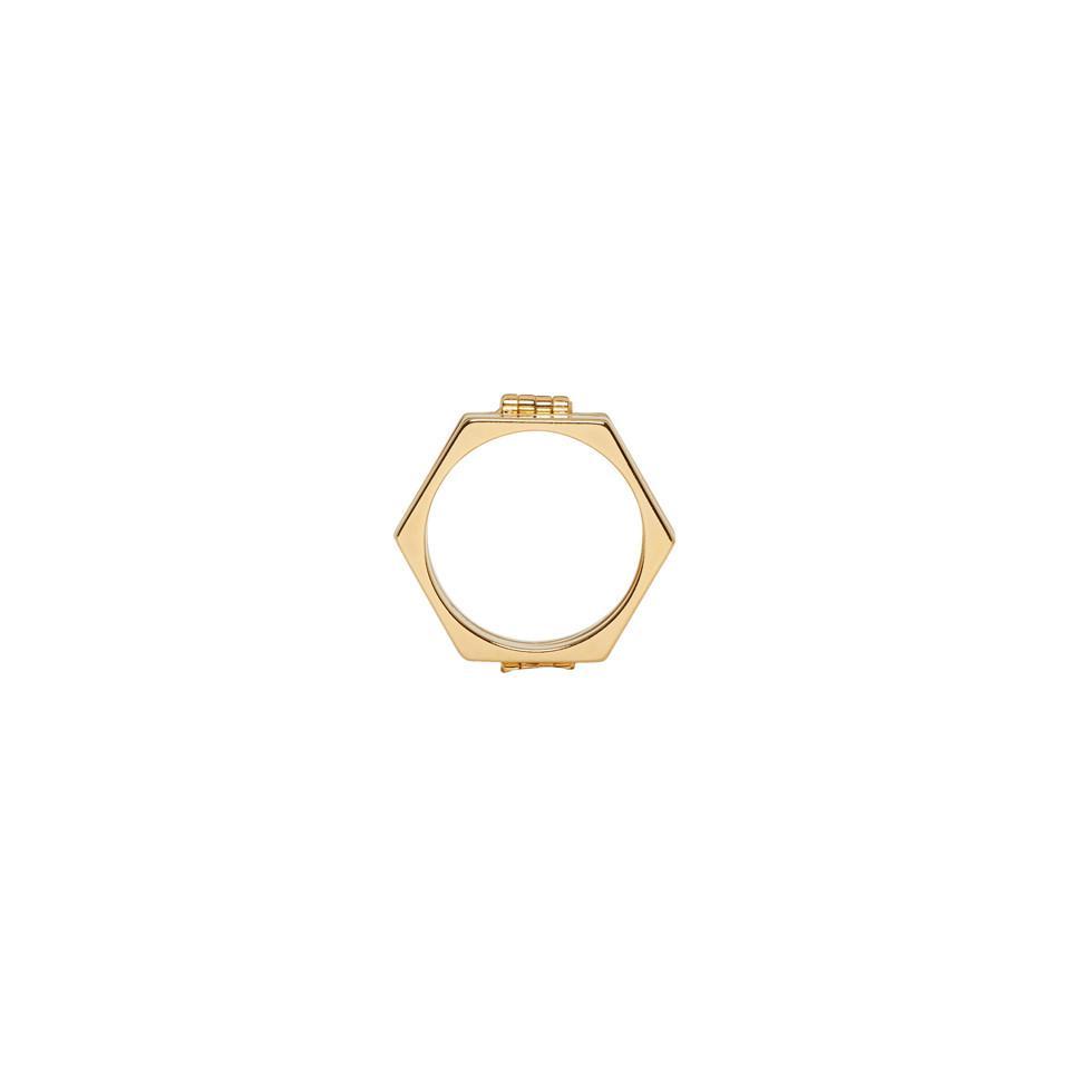 Gold Valentino Garavani Stacked Ring Valentino nZA18x2