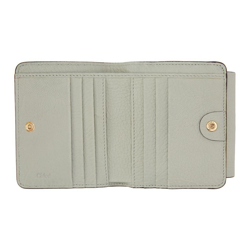 5fd9c144 Chloé Multicolor Blue Drew Compact Wallet