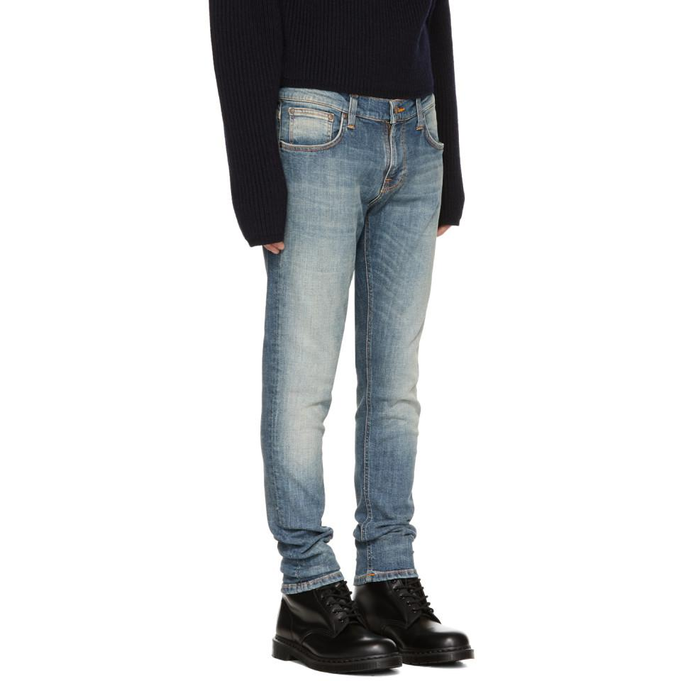 Nudie Jeans Denim Blue Tight Terry Jeans for Men