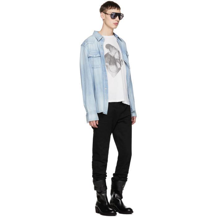 Balmain Black And Gunmetal Aviator Sunglasses for Men