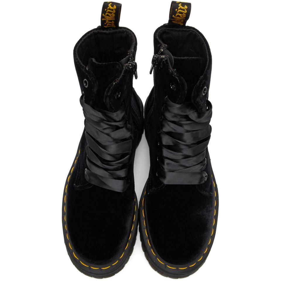 dr martens boots velvet