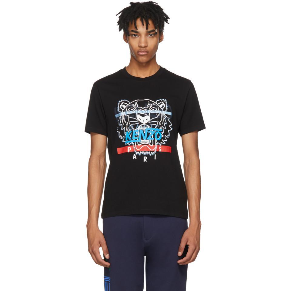 d1e69a37 KENZO Black Hyper Tiger T-shirt in Black for Men - Lyst