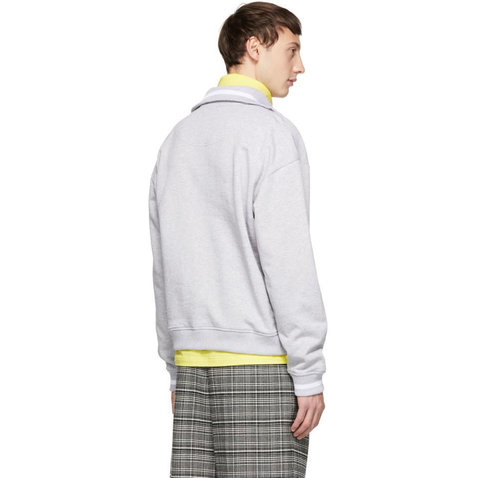 62035409 KENZO Grey Jumping Tiger Zip Sweatshirt in Gray for Men - Lyst