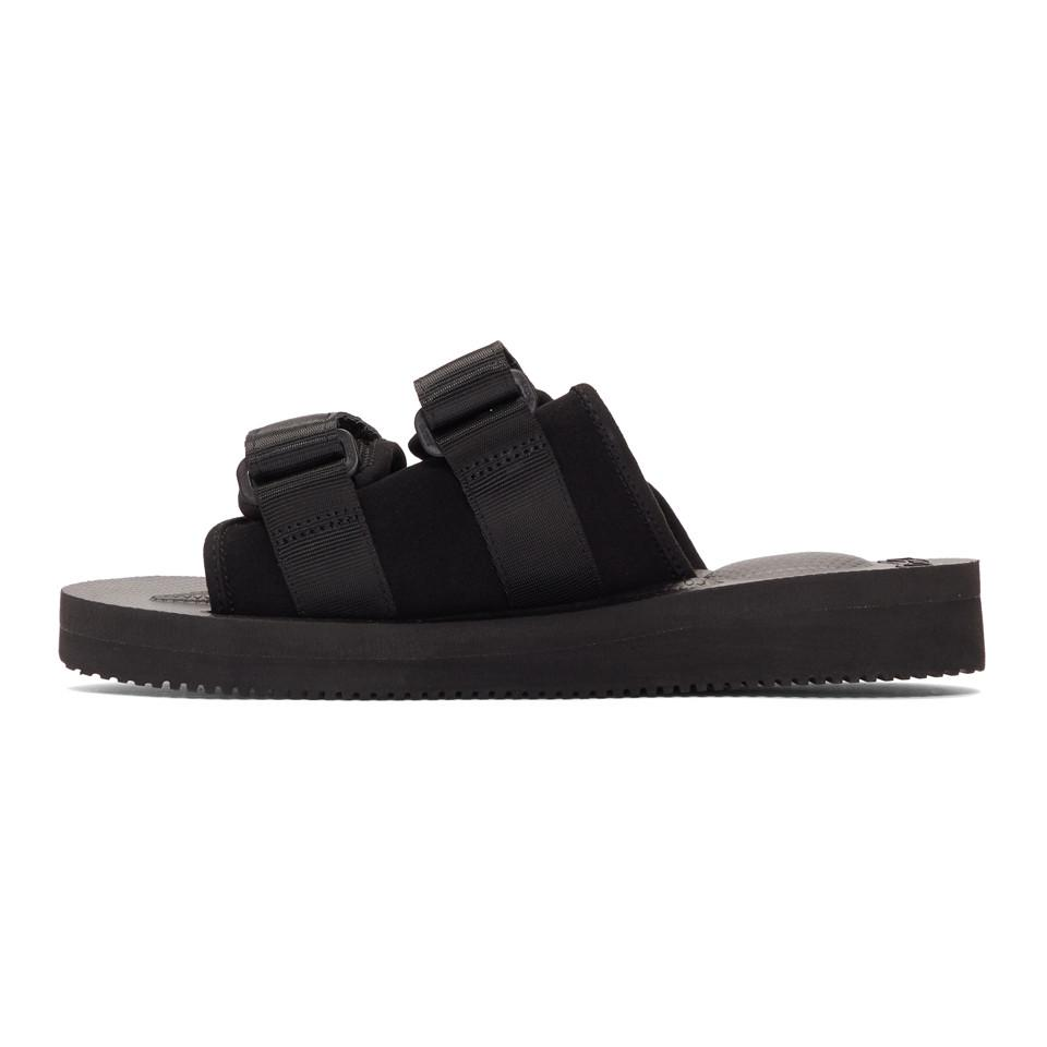 2dc8133a119b Lyst - Suicoke Black Suede Moto-vs Sandals in Black for Men
