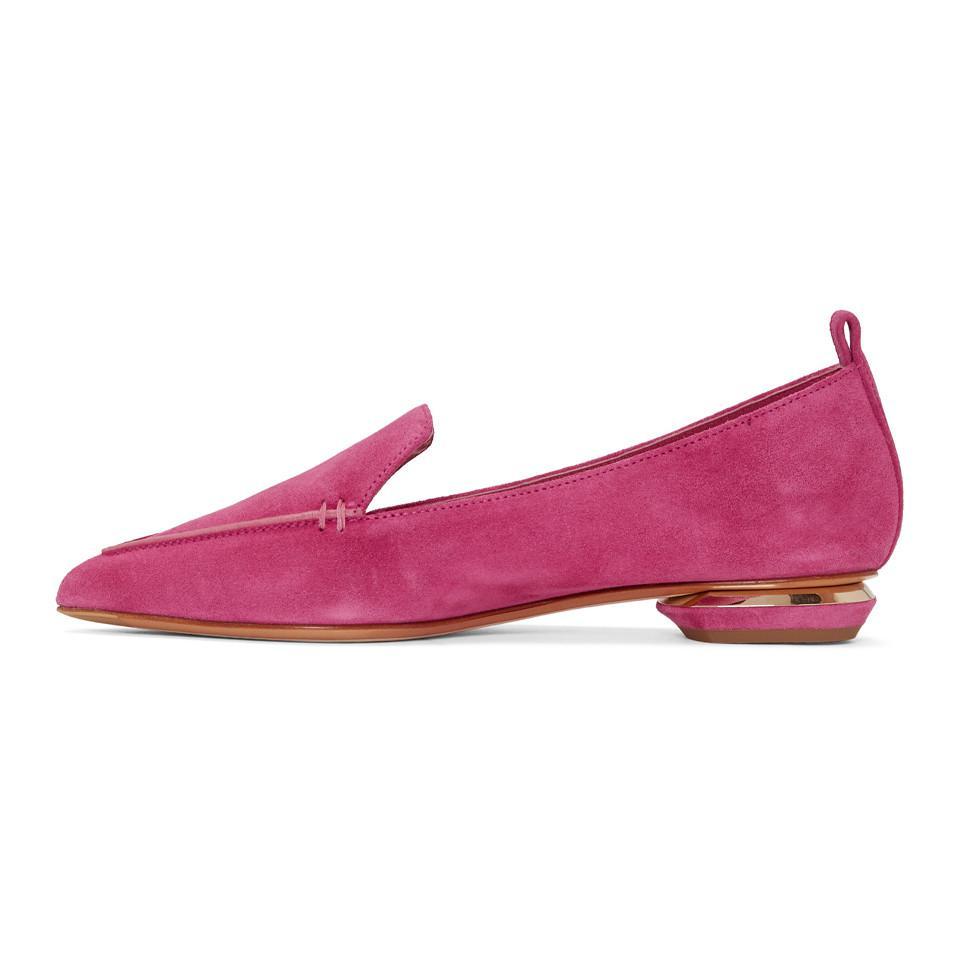 55b96492828 Lyst - Nicholas Kirkwood Pink Beya Loafers in Pink