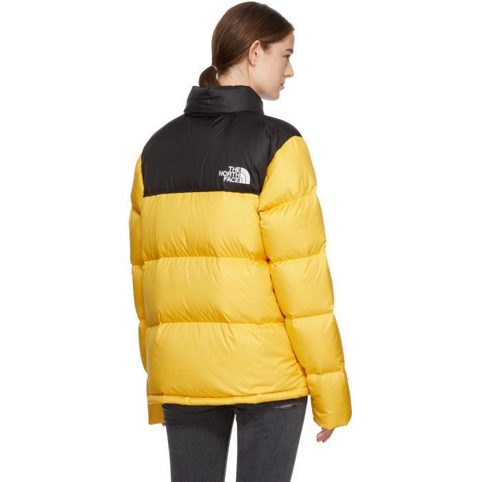 3b3e6b291 uk north face puffer jacket all black yellow 52d60 09411