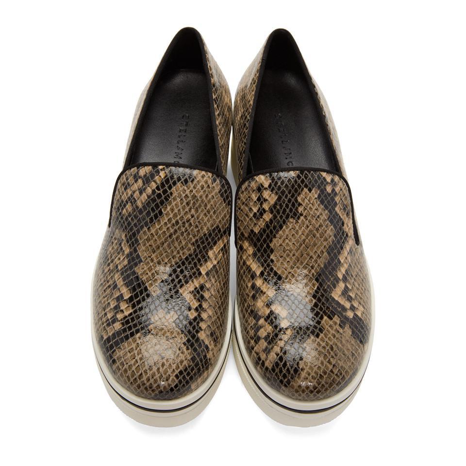 Stella McCartney Brown Snake Binx Platform Sneakers in Black