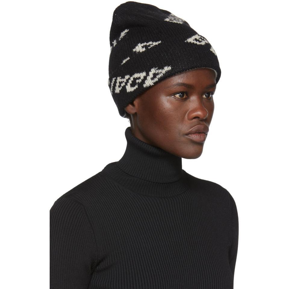 fb23c9e572d Balenciaga - Black Jacquard Logo Beanie - Lyst. View fullscreen
