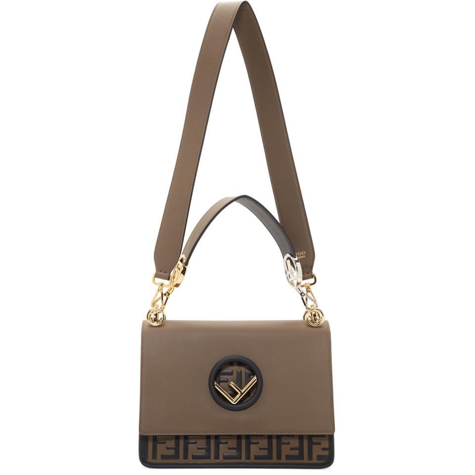 d35476f9bb2c Fendi Brown Forever Kan I Bag in Brown - Lyst