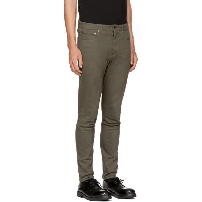 Attachment Denim Khaki Skinny Jeans for Men