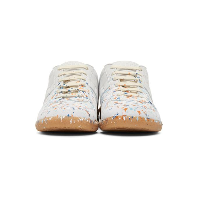 Maison Margiela Leather Off-white Paint Splash Replica Sneakers