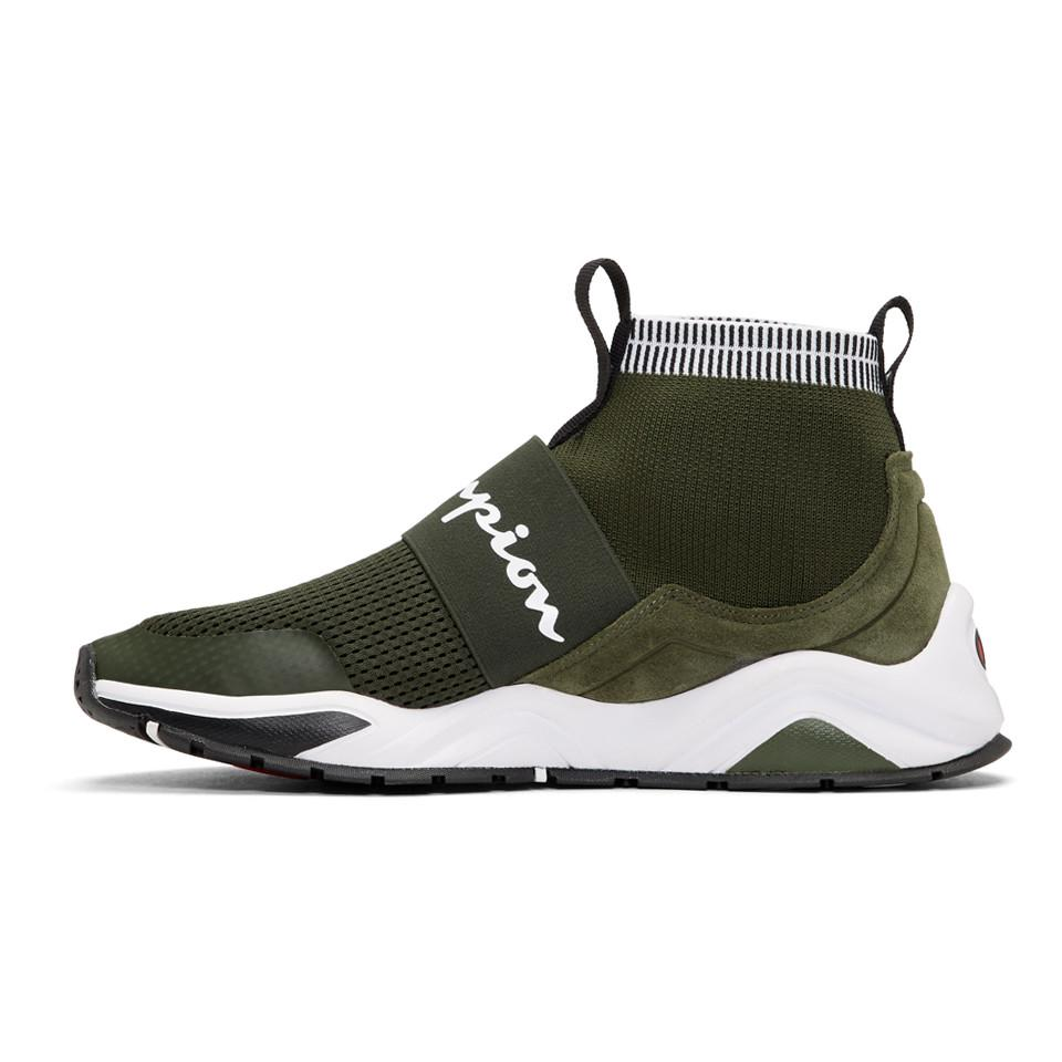 fb7312bd12f08 Lyst - Champion Green Rally Pro High-top Sneakers in Green for Men