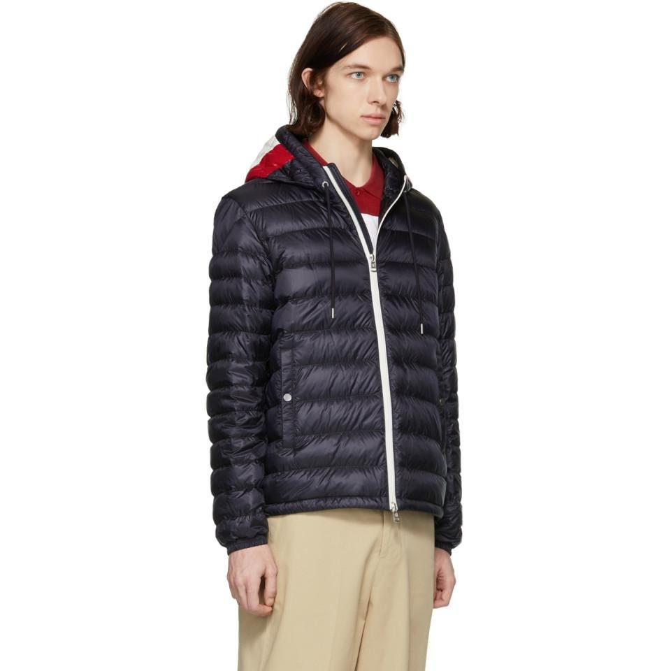 Moncler Synthetic Navy Down Ceze Jacket in Blue for Men
