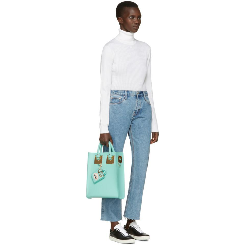 SSENSE Exclusive Blue Cloud Albion Tote Keychain Sophie Hulme