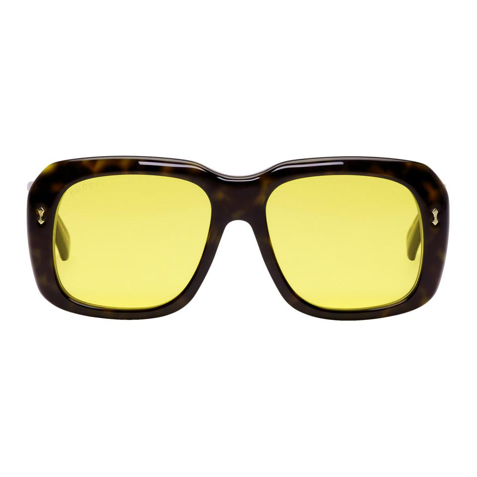 230a275949 Gucci Tortoiseshell Opulent Luxury Sunglasses for Men - Lyst