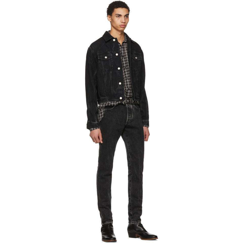 Givenchy Black Vintage Denim Jacket for Men