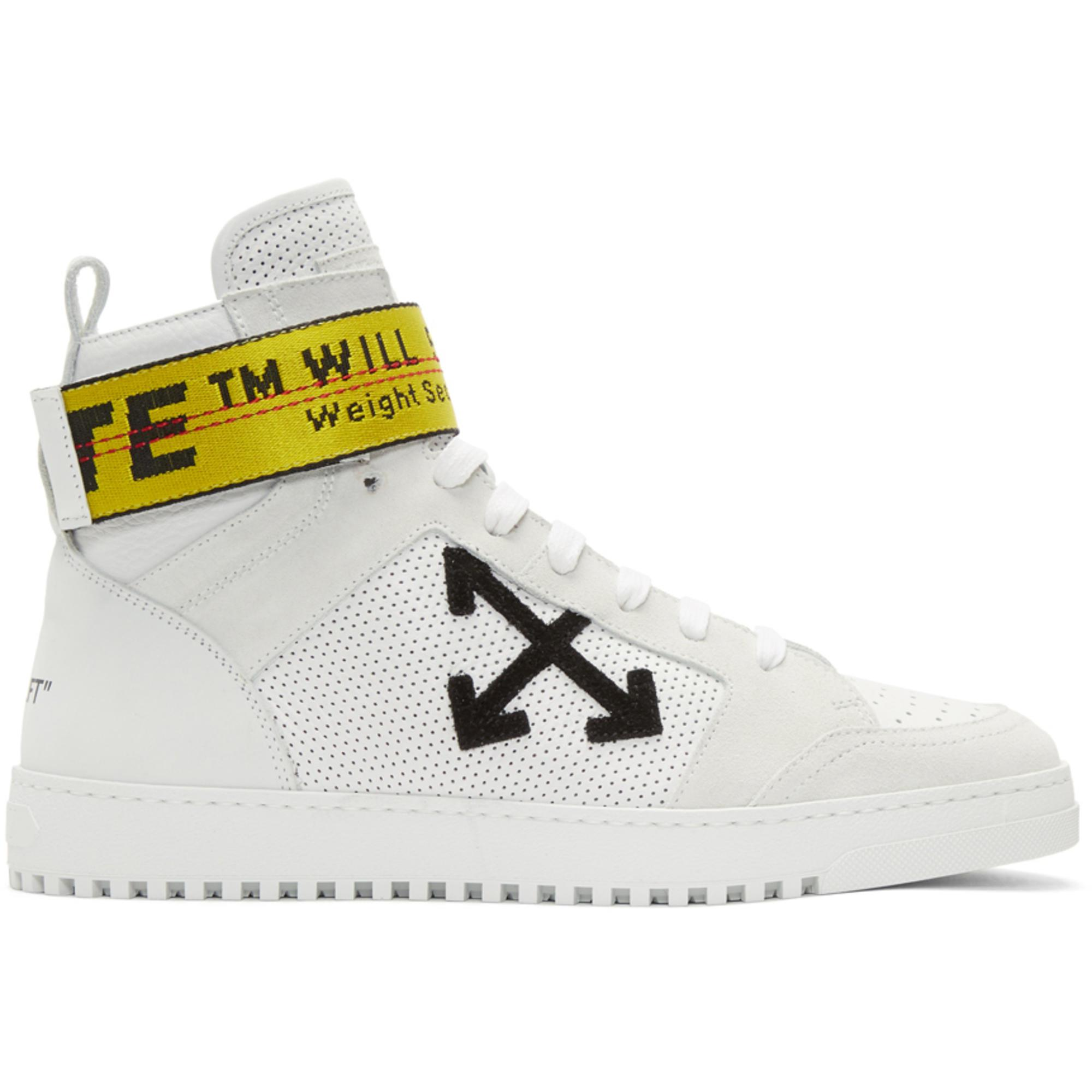 Lyst - Off-White CO Virgil Abloh White Belt High-top Sneaker