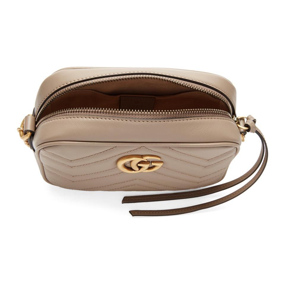 1a50197316a3 Gucci - Pink GG Marmont Camera Bag - Lyst. View fullscreen