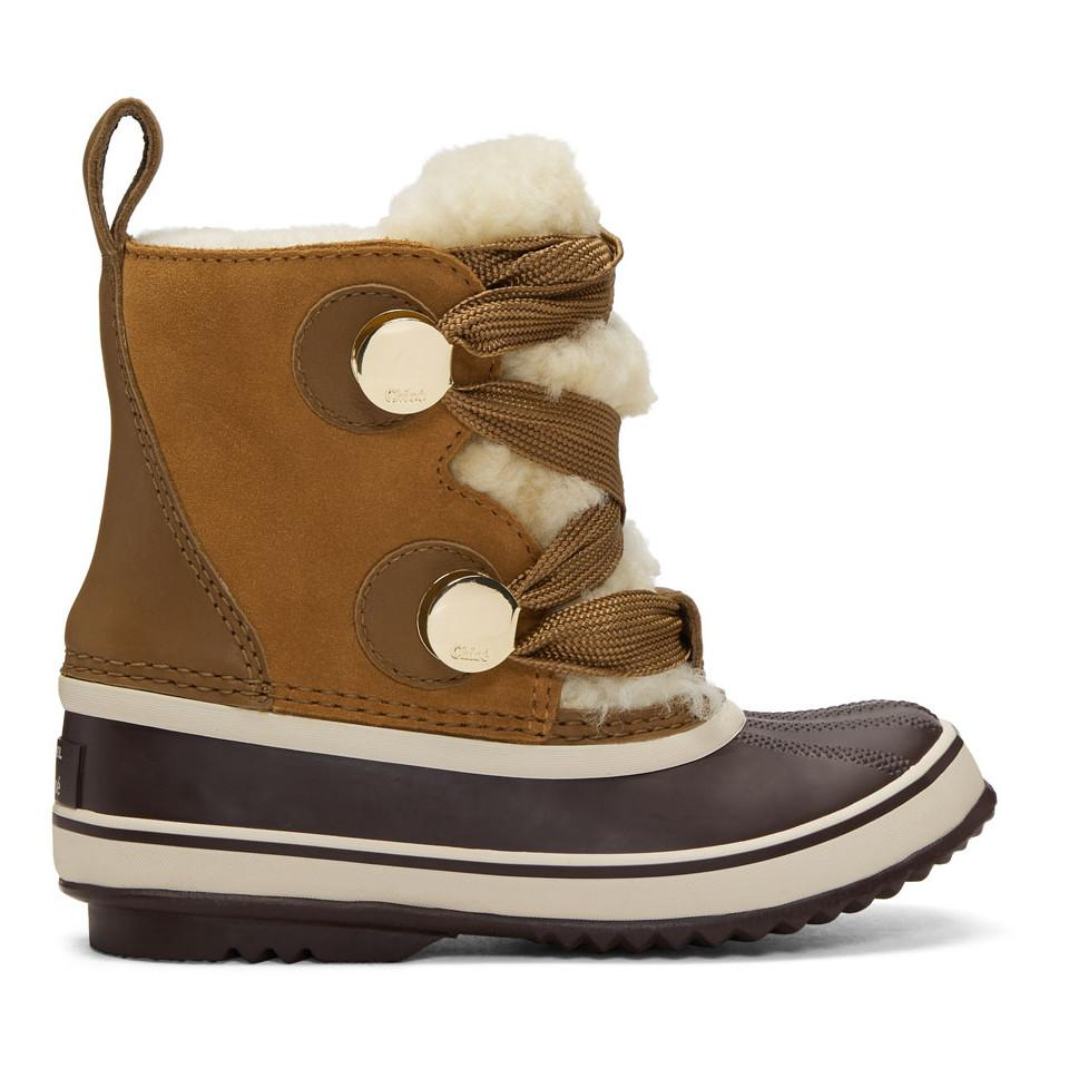 3b14603d Chloé Brown Sorel Edition Winter Boots