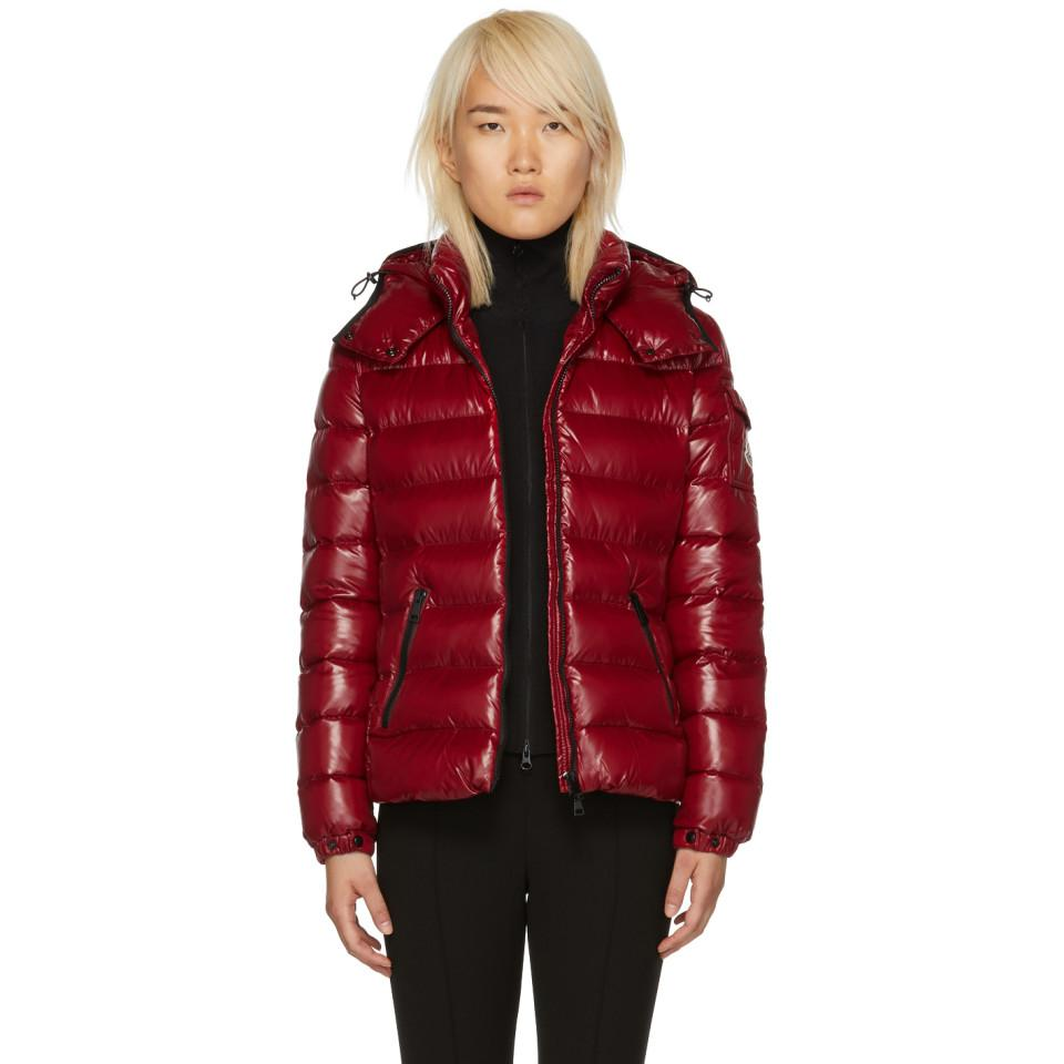 1e906a2e6 Lyst - Moncler Red Down Bady Jacket in Red