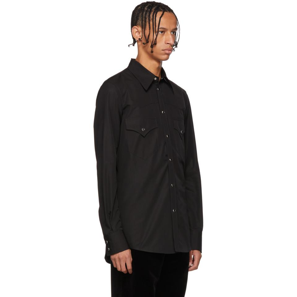 a358606be18 DSquared² - Black Chic Western Shirt for Men - Lyst. View fullscreen