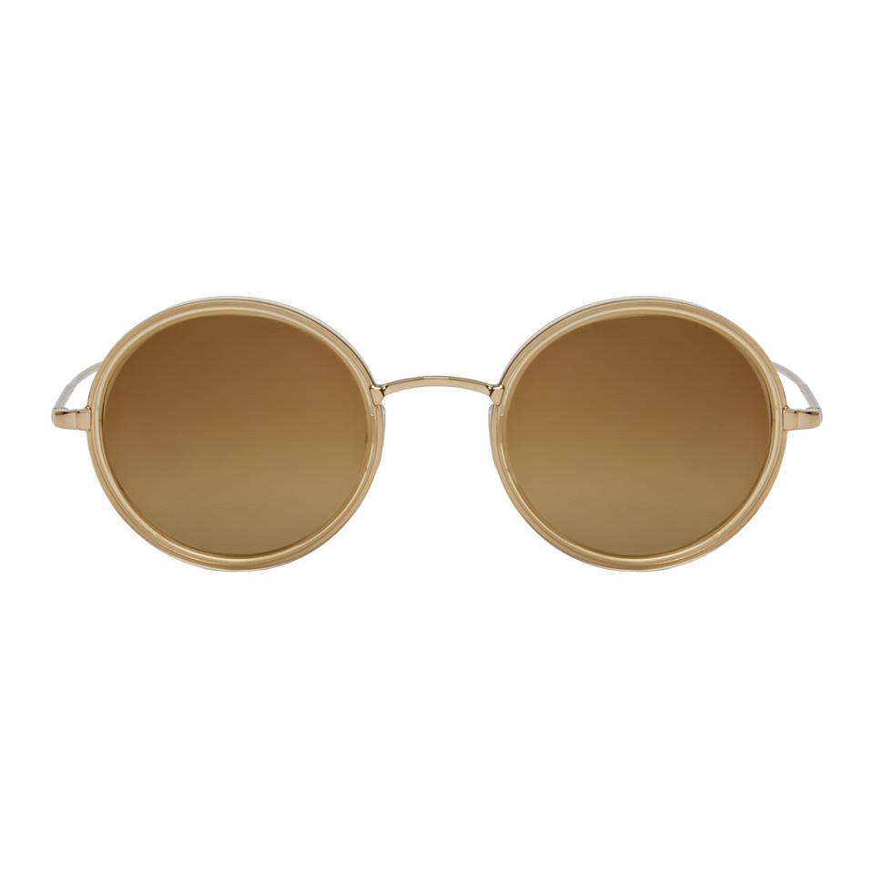 Lyst - Lunettes de soleil dorees Playa Garrett Leight pour homme en ... 1e3430242fc7