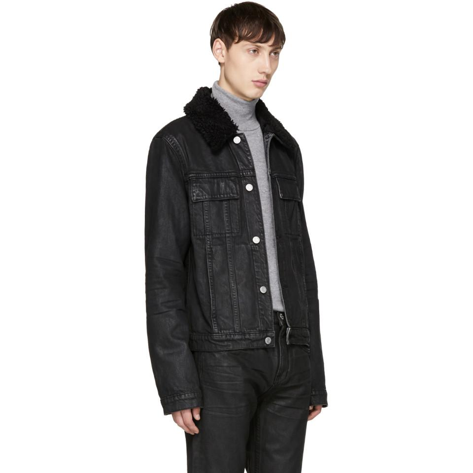 Helmut Lang Black Denim Mr 87 Jacket for Men