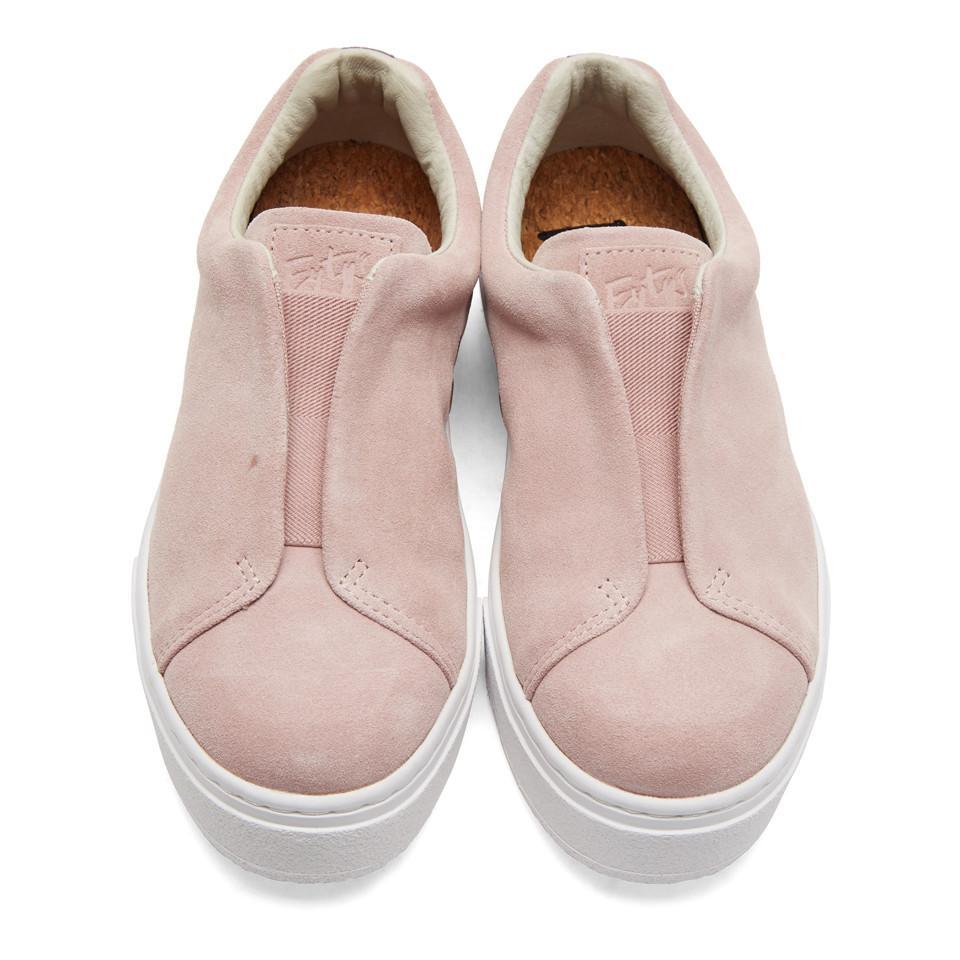 Eytys Pink Suede Doja Sneakers
