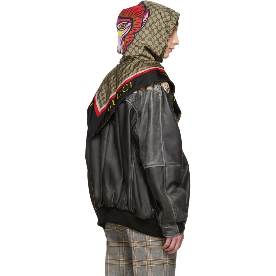 7be9788c870a Lyst - Gucci Black GG Monkey Hood in Black for Men